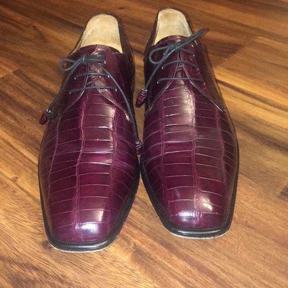 Mezlan Platinum Genuine Alligator Shoes